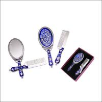 Quality Eco Friendly Travel Hand Mirror / Antique Hand Held Vanity Mirror for sale