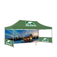 China Hexagon Trade Show Pop Up Tents 4X8 Portable Folding Type Space Saving on sale