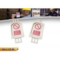 Quality 7g PVC Lockout Tagout Tags, 38.58 * 4.55 * 81.74 Mm Lockout Tagout for sale