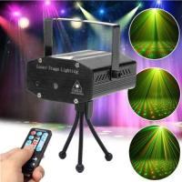 Quality Mini disco DJ club gypsophila laser projector with remote control & Sound active & auto mode function black for sale