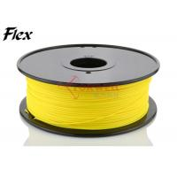 Quality High elasticity 3mm TPE flexible 3D printer filament Yellow color ROHS for sale