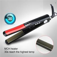 Quality Meraif wholesale ceramic / titanium coated flat iron ,titanium ceramic steam iron for salon use for sale