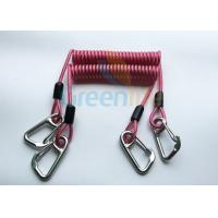 Quality High Strength Strong Coil Tool Lanyard Transparent Red PU Material Cover for sale