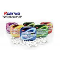 China 15g Supplement Sugar Free Round Mint Candy Tablet Tin Packaged on sale