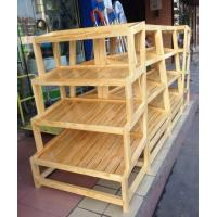 Quality Custom Bread Wooden Retail Display Shelves / Wooden Bakery Display Racks for sale