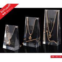 China High Transparent Acrylic Jewelry Display Stands Plexiglass Necklace Holder on sale
