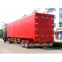 Quality Dry Van Cargo Box SemiTrailer Double Side Canvas Door Curtain Truck Trailer for sale
