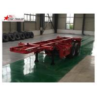 Quality 2 Axles Tipper Hydraulic Flatbed Trailer , 50T Flatbed Truck Trailer for sale
