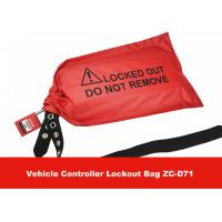 Quality Red Fabrics Vehicle Controller Lockout Bags for Controllers and Plugs in Industrial for sale