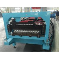 Aluminium Corrugated Profile Roofing Sheet Roll Forming Machine Auto PLC Frequency Control