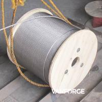 China Industrial Austenitic AISI316 Stainless Steel Wire Rope 6x37 Customized Length on sale