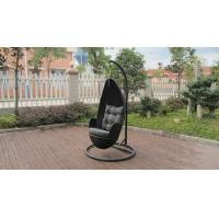 Quality Aluminum Frame And Black Rattan Swing Chair For Outdoor Garden for sale