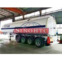 Quality 50m3 4 Alxe Fuel Tanker Semi Trailer , Diesel / Petrol Trailer Tank 6 Compartments for sale