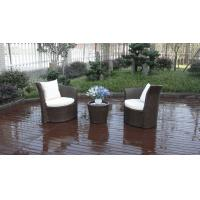 Quality Outdoor Garden Brown PE Rattan Obelisk Chair With Aluminum Frame for sale