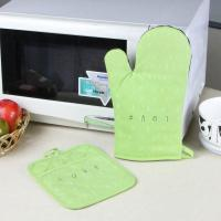 China Promotional Customized Pattern Kitchen Cooking Oven Mitts And Pot Holders With Neoprene Oven Mitt on sale