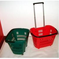 Quality Colorful Shopping Hand Baskets With Wheels for sale