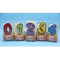 Quality Colorful Children's Birthday Candles Number 0-9 , Custom Cake Candles For Celebrate for sale