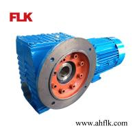 Quality SAF77 speed reducer Helical-worm gearmotor hollow shaft industrial gearbox for sale