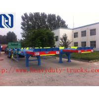 Quality HOWO A7 Oil Tank Trailer Diesel 28 Cubic Meters , Two Single Low Bed Trailer for sale