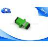 Buy cheap Plastic SC APC Single Mode One Piece Type Fiber Optical Adapter Zirconia Sleeve from wholesalers