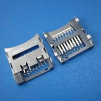 Quality micro pcb SD push sim card connector 8pin smt,mini sd card socket for sale