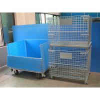 Buy cheap Galvanized Standard Size Foldable Pallet Wire Mesh Cage Containers from wholesalers