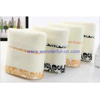 Quality Most absorbent cotton embroidered white bath towels for promotion for sale