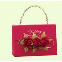 Quality paper candy bag with flowers decoration for sale