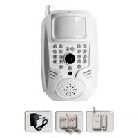 Quality 900/1800/1900MHz gsm mms alarm system with wireless detectors for home for sale