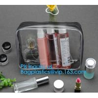 China recyclable travel PVC cosmetic bag travel set bag, PVC Zip Lock Plastic Cosmetic Travel Packaging Bag, PVC Zipper Travel on sale