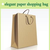 Quality paper handbag elegant for shopping manufactory in China for sale
