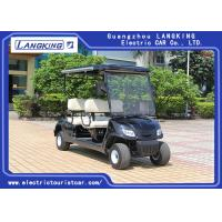 Quality Black color 4 seaters  Powerful Electric Club Car  Golf Buggy Steel Framework for hotel/ Park for sale