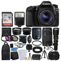 Quality Cheap Canon 80D DSLR Camera 9 Lens 18-55 STM +75-300 +500MM +32GB,buy now for sale