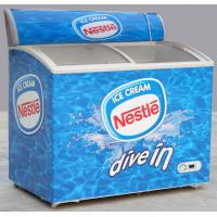 Buy 255L 4 Foot Chest Freezer, Two Doors Commercial Ice Cream Freezer at wholesale prices