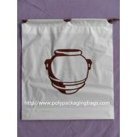 Clothing Plastic Drawstring Backpack Promotional For Shopping / Sports