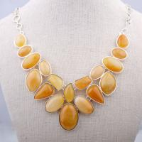 Natural Stone Chunky Choker Necklace Party Jewelry