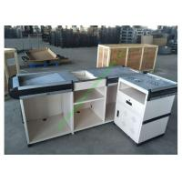 Quality Anti-rust Steel Cash Desk Commercial Money Counters Table Design For Shop for sale