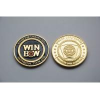 Quality Round custom design metal poker chips 24k gold Commemorative Coins thickness 3mm for sale