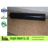 Quality Black Tough Precision Plastic Parts , MC Nylon Conveyor Idler Roller for sale