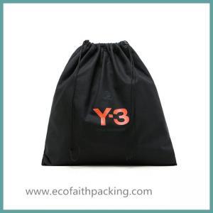 Quality customized black cotton drawstring shoes bag,cotton shoes dust bag for sale