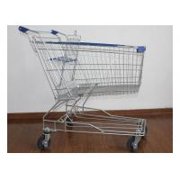 Quality Supermarket Metal Handcart Rustless 4 Wheels Shopping Trolley For Shop for sale