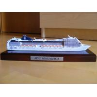 Quality Customized Design Wooden Model Boats With MSC Magnifica Cruise Ship Shaped for sale