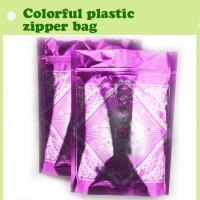 Quality colorful plastic bag/high quality plastic zipper bag for sale