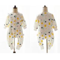 Quality 100% Cotton Printed Muslin Baby Pajamas Comfortable Absorbent For All Seasons for sale