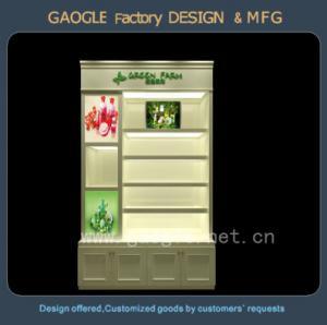 Quality high quality LED lights cosmetic display shelf for sale