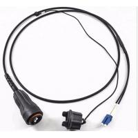Buy cheap Base Station Waterproof Fiber Optic Patch Cord PDLC Fullaxs SM G657A1 Black from wholesalers