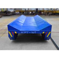 Quality 50t emergency-stop button towed cable rail guided steel coil transfer wagon for steel plant for sale