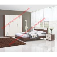 Quality Budget Hotel furniture in modern deisgn by panel bed and doors wardrobe in high glossy for sale