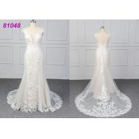 Quality White Color Lace Wedding Womens Ball Gowns Fashionable Bridal Dress Eco for sale