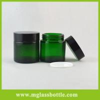 Buy 20g,30g,50g,100g High quality green glass jars for cream beauty packaging at wholesale prices
